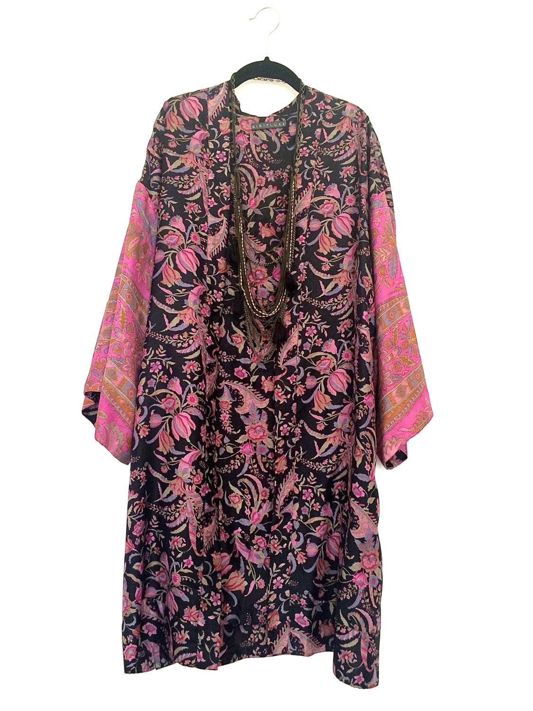 pure silk kimono jacket cover up. Black Bedroom Furniture Sets. Home Design Ideas