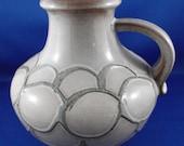 Retro Scheurich Keramik West Germany Fat Lava decorative urn vase water jug, 423-18, embossed circles pattern, c.1970s, 1980s