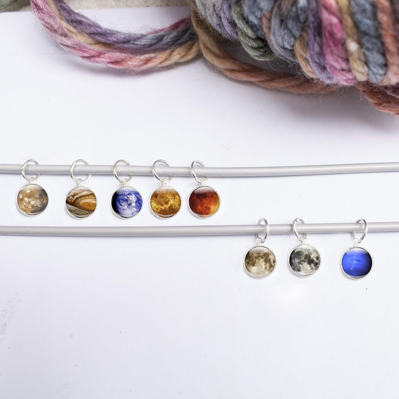 8 Stitch Markers Space Stitch Markers Knitting