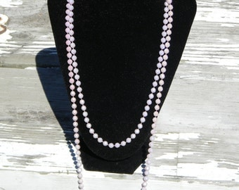 "Vintage Costume Jewelry Pink Iridescent ""Mardi Gras"" Necklace"