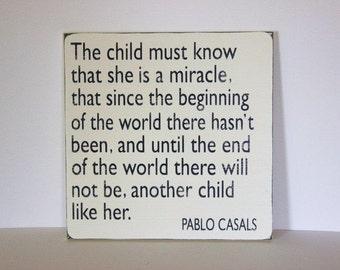 children's sign, Pablo Casals, distressed sign