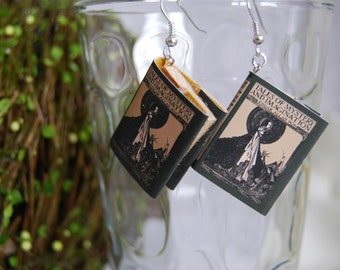 Poe's Tales of Mystery and Imagination Book Earrings