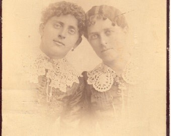 Antique Photo of Two Young Ladies