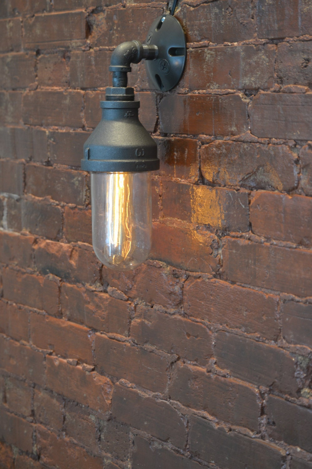 Steampunk Glass Sconce Steampunk Sconce Industrial Wall