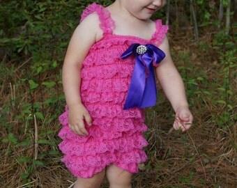 Lace Petti Romper Set/Petti Romper/Baby Lace Romper/Baby Petti Romper/Baby Lace Romper/Baby Lace Dress/Baby Girl Petti Romper/Ruffle Romper