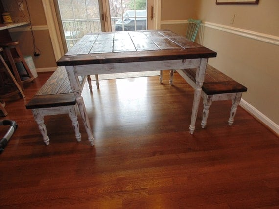 Items similar to caroline dining table farmhouse for Dining room tables made in usa
