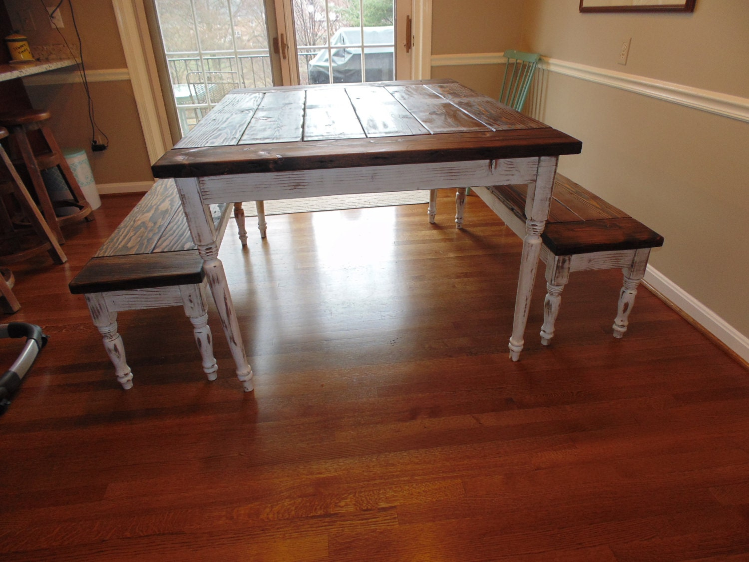 Caroline Dining Table Farmhouse Reclaimed by WonderlandWoodworks