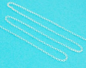 sterling 2 mm rolo chain - unfinished bulk smooth strong rollo cable link 2 mm diameter with a 0.6 mm thickness - sterling necklace jewelry