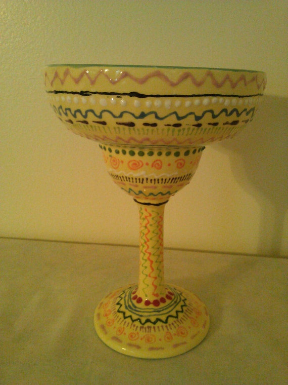 Fiesta Margarita Glass- Hand Painted