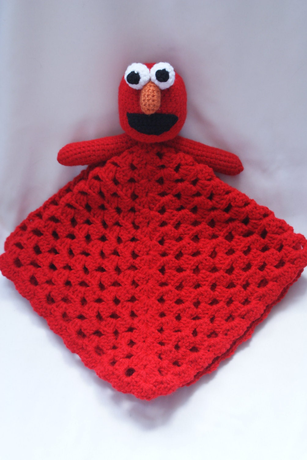 Elmo inspired lovey blanket security blanket pattern only zoom bankloansurffo Gallery