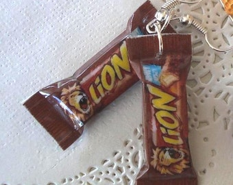 Delicious earrings bars chocolate LION