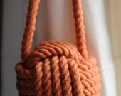 Terracotta - Curtain Tiebacks - Nautical Decor - Nautical Gift - Cotton Rope Tiebacks - (this is for a pair)
