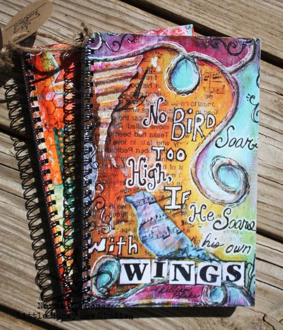 SALE: Spiral Notebook, Journal - Wings