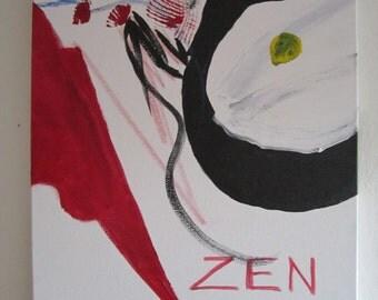 Abstract Acrylic Painting, Zen 16x20 Painting, Original Art