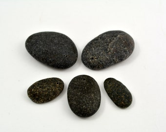 DRILLED BEACH STONES Earthy Natural Stones Jewelry supplies