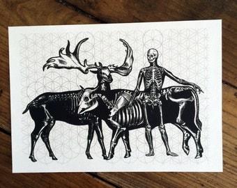 LIMITED Sacred Black Bones 3 - Tattoo print