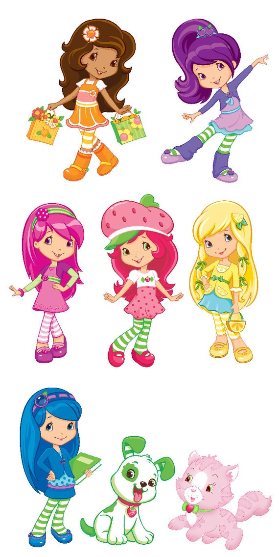 Strawberry Shortcake Set of 6 Characters