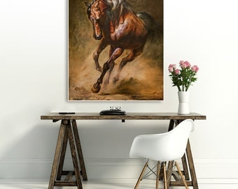 Large painting , Horse , 28.7 x 23.6 inch (original painting) Free shipping