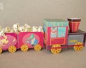 Tren Circo - Fiesta Cumpleaños Circo - juguete imprimible - Descarga Inmediata - Monopache