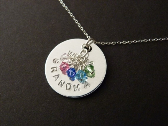 Grandma necklace grandchildren birthstone nana gigi by nkdna for Grandmother jewelry you can add to