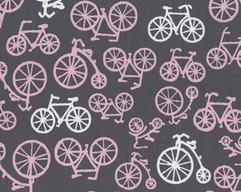 Bike Cotton Fabric - It's a Girl Thing Bloom Bicycles by Michael Miller Fabrics CX4892-BLOM-D - 1/2 yard