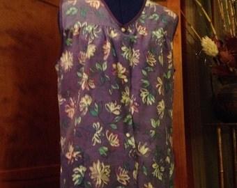 Nice Vintage Purple Haband Smock