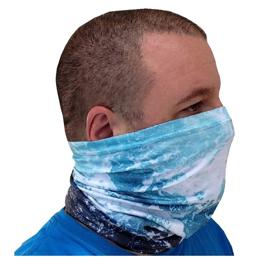 Fishing neck gaiter w 50 upf solar protection rough by for Neck gaiter fishing