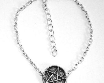 Pentagram Anklet, Ankle Bracelet, Handmade in England, Chain (hin)