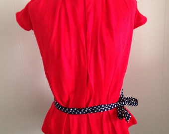 Red Wool Blouse
