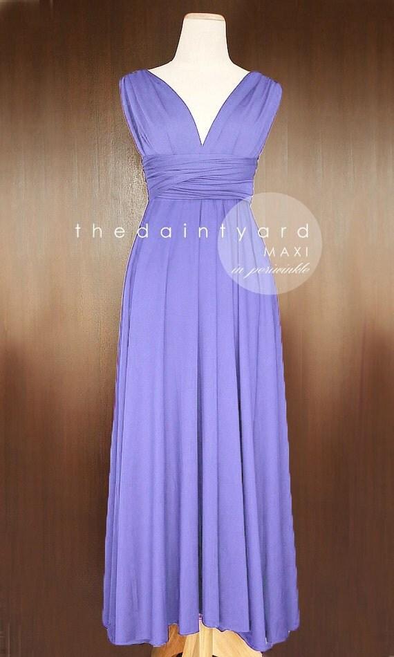 Maxi periwinkle bridesmaid dress convertible dress by for Periwinkle dress for wedding