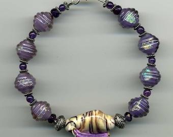 Amethyst Shell Bracelet