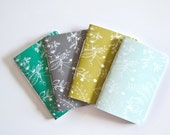 Pocket Journal Set of 4 | Hand Illustrated Floral Notebook : The Saturday Collection Illustrated Journal Set