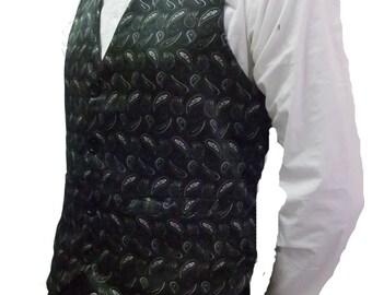 Steampunk Mens Paisley Waistcoat Vest