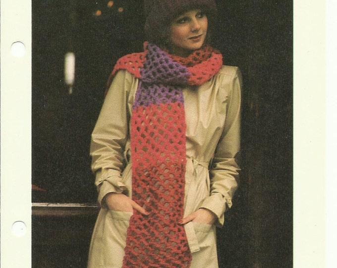 TriColor Scarf beginner crochet pattern digital download