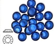 Swarovski Flatback Rhinestones, Swarovski Crystal Flatbacks, Capri Blue, SS20, 144 PCS, Crystal Rhinestones for Costume Design, 2028, 2058,
