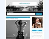 Wordpress Theme, Responsive, Wordpress Blog Template, Genesis Child Theme, Travel Adventure, Blue & Gray, Clean, Always Amazing Travels