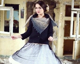 hand knit shawl - valentine's gift - womens shawl - spring shawl - lightweight shawl - birthday gift for her - soft shawl