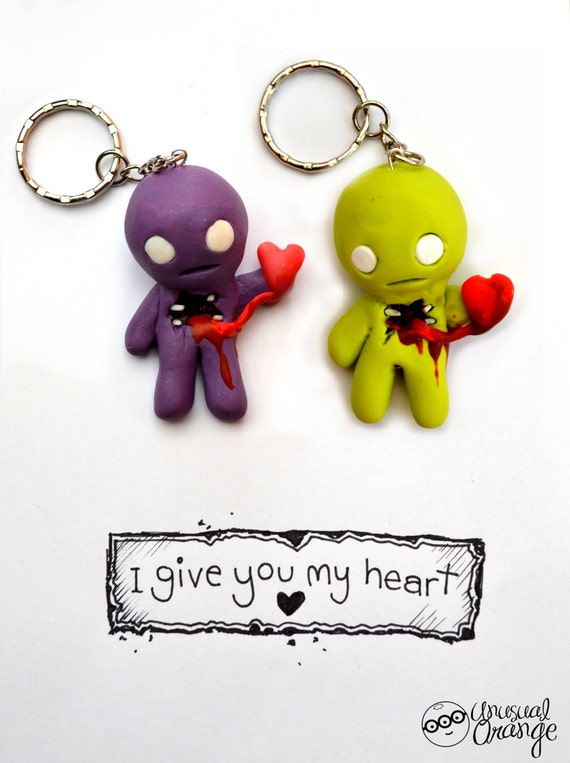 I Give You My Heart keyring