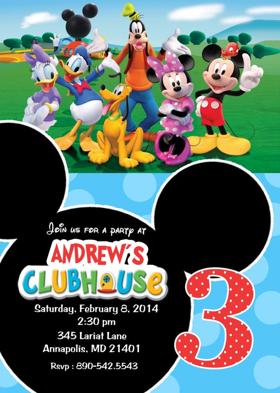 Items similar to Mickey Mouse Clubhouse Birthday Party ...
