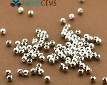 100pc, 3mm Beads, 3mm Sterling Silver Beads, Seamless Silver Beads, Seed Beads, .925 Round Seamless Beads, Wholesale lot