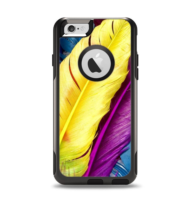 Case Design skinz phone case : The Hd Color Feathers Apple iPhone 6 Otterbox Commuter Case