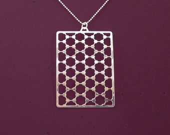 Geometry Graphene structure necklace - chemistry - Hexagonal statement necklace