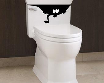 Little Toilet Monster 2 - Bathroom Decal