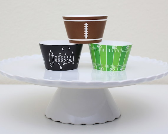 INSTANT DOWNLOAD - Printable Football Cupcake Wrapper