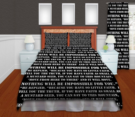 Items Similar To Teenage Personalized Bedding Text Duvet