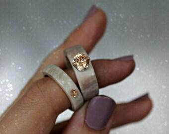 Antler ring / Deer Ring /Swedish Sami Jewelry / Antler Jewelry / Bohemian Statement Ring