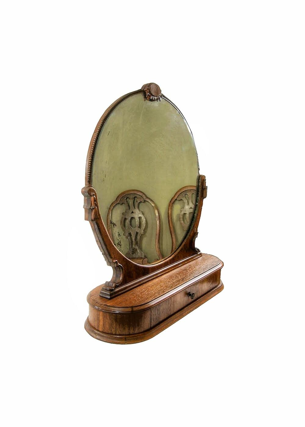 antique vanity dresser mirror with drawer. Black Bedroom Furniture Sets. Home Design Ideas