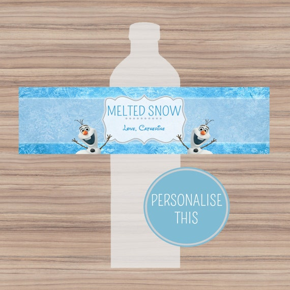 Items similar to Disney Frozen Bottle Labels ...