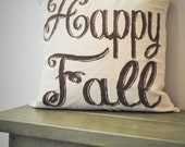 Fall Pillow Cover, Happy Fall Pillow, Fall Decor