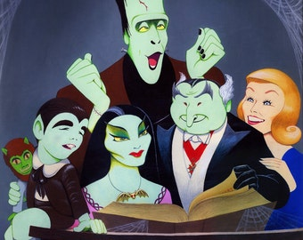 Dave Woodman's THE MUNSTERS limited edition signed art print